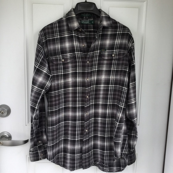 Polo by Ralph Lauren Other - Polo Ralph Lauren plaid grey white flannel